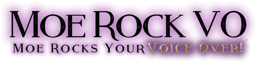 Moe Rock Voice Over Branding Logo